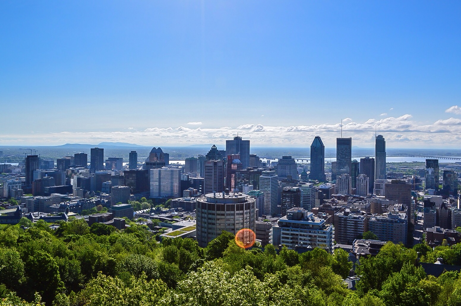 The spectacular view from the top of Mont-Royal.