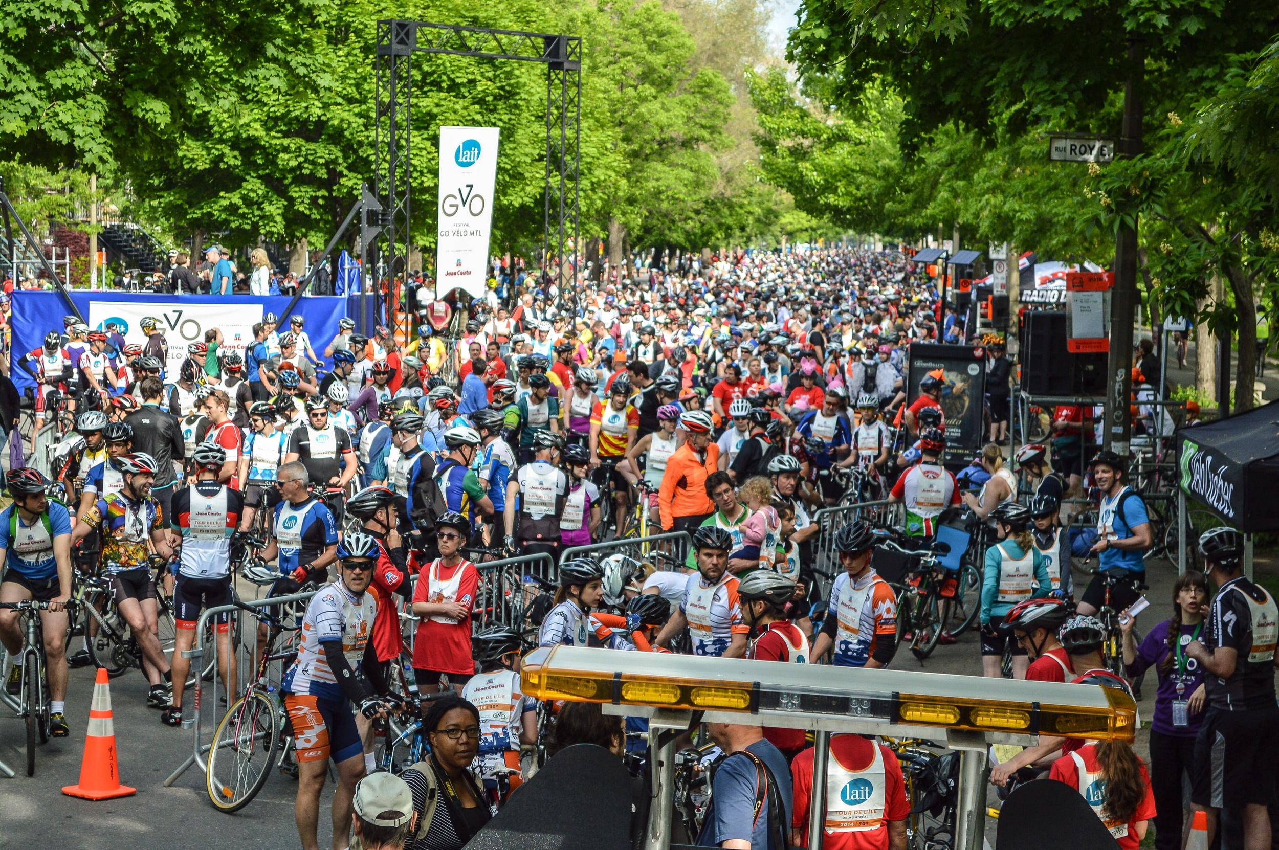 What 30,000 cyclists looks like.