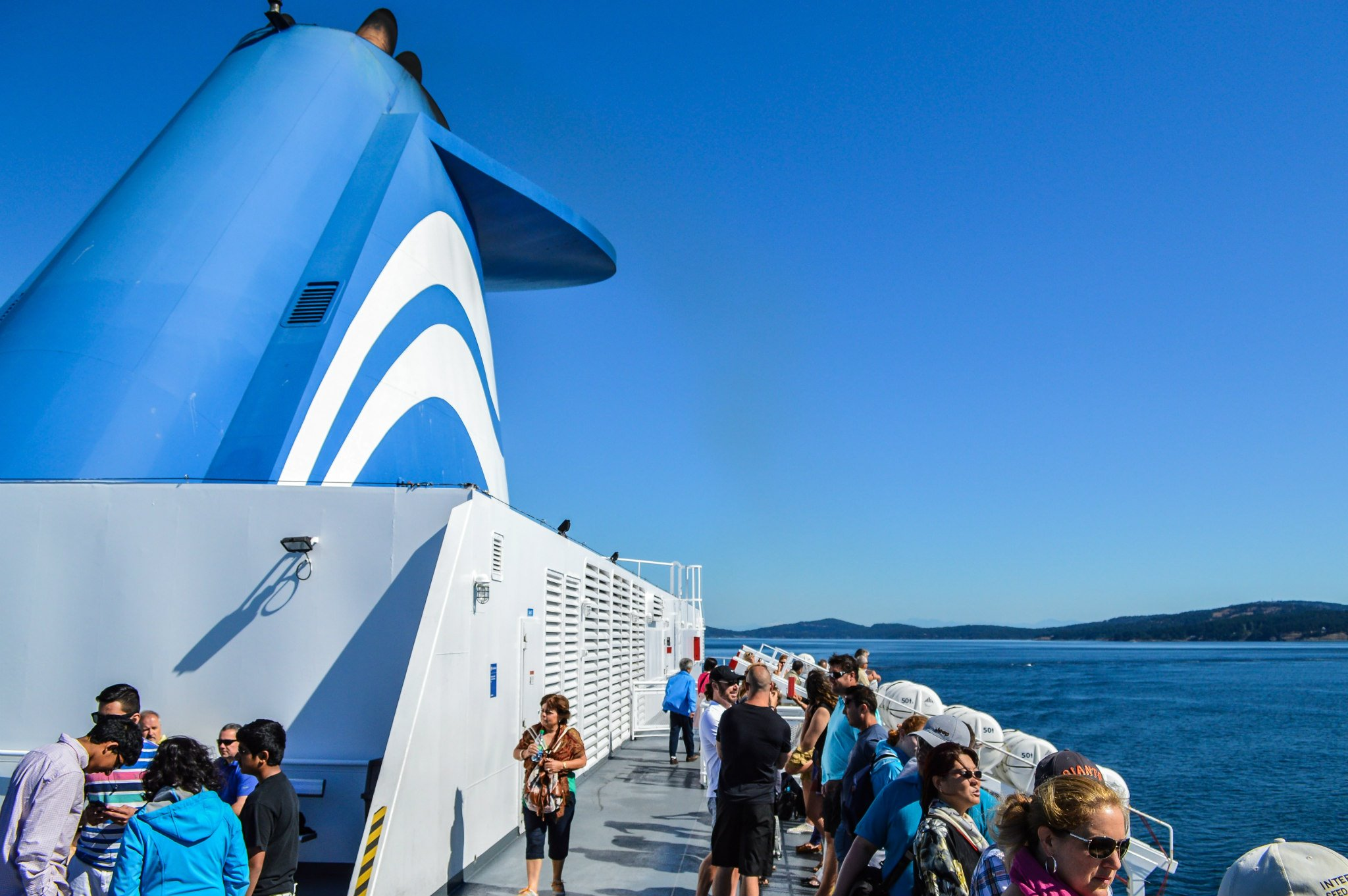 The View from the Top Deck of the Spirit of Vancouver Island.