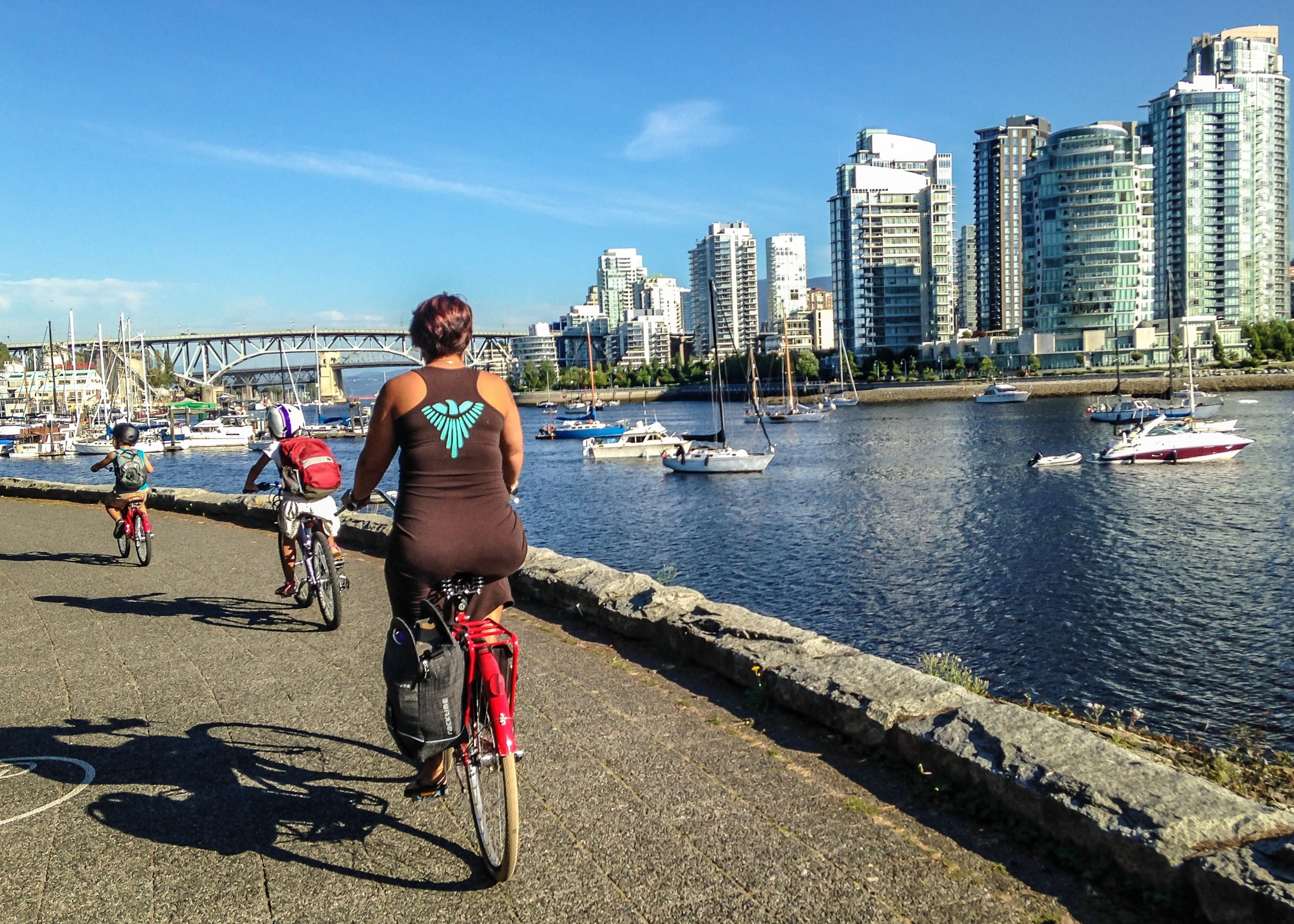 On our ride out from East Vancouver west to Kitsilano.
