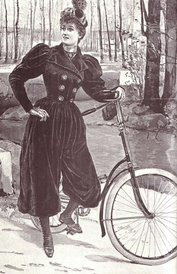 Bloomers became essential for practical riding. Photo courtesy of  SOAR blog