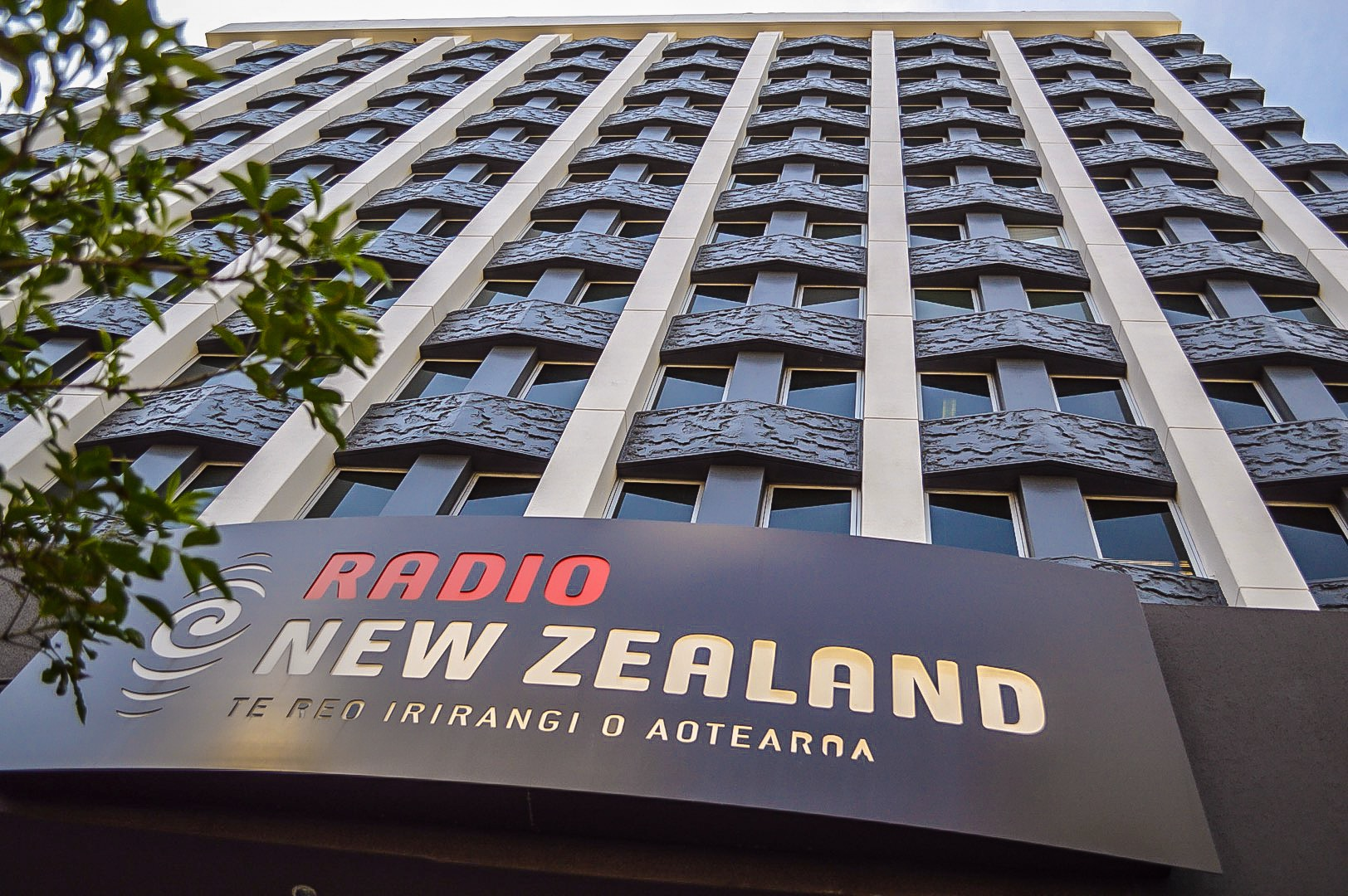 An exciting hour at the  Radio New Zealand studio.