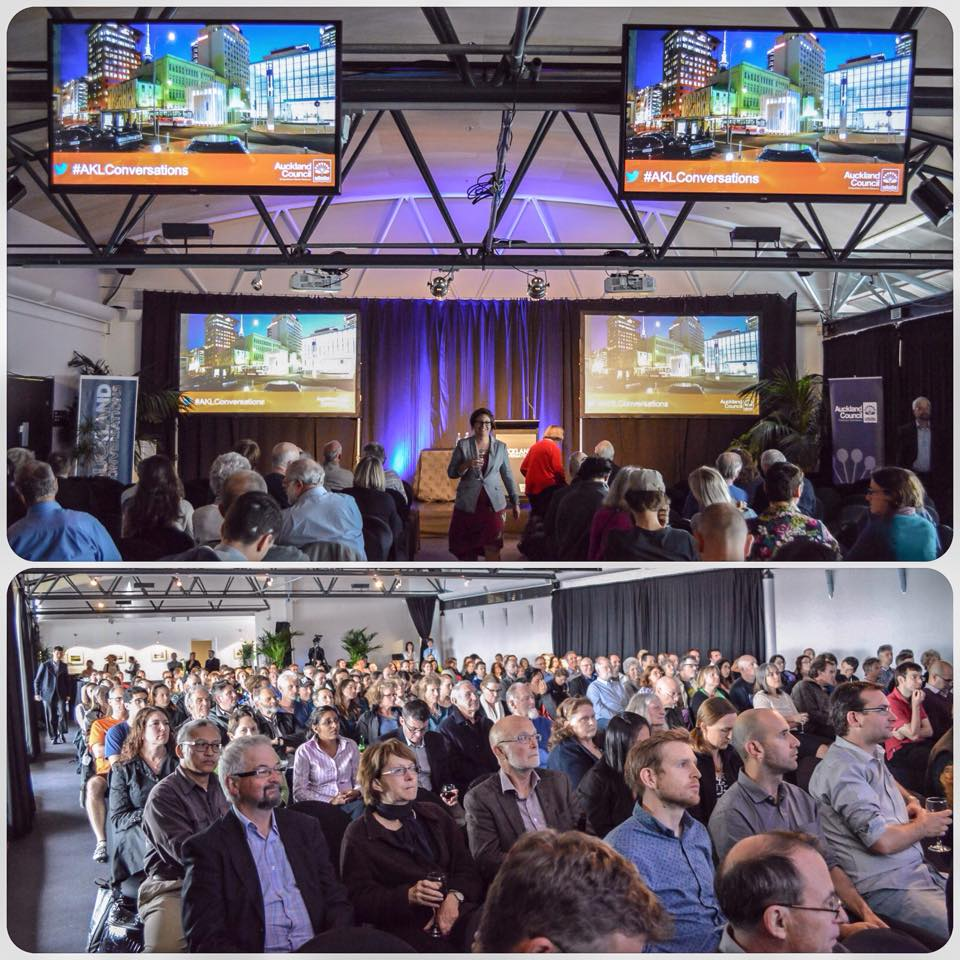 A snapshot of the location and our audience in Auckland. It was standing room only by the time we started!