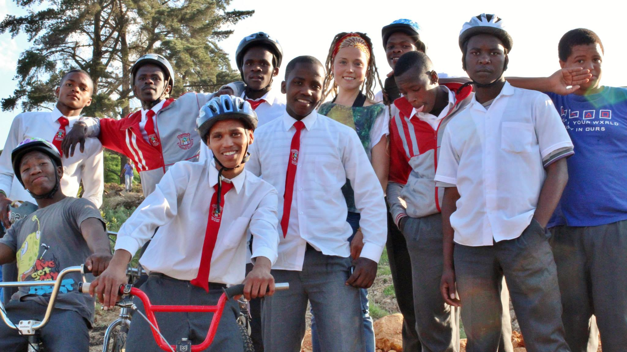 Brenna with some of the youth she's been working with inFisantekraal. Photo by Carrie Buckmaster