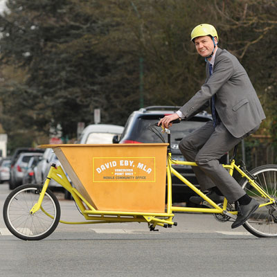 My Bike: NDP's Eby Rides to Peddle Point Grey Politics