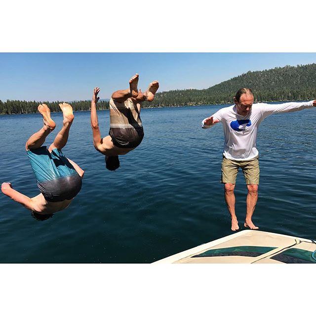 """""""Let's all backflip together!"""" - Dad #hetried #aforeffort"""