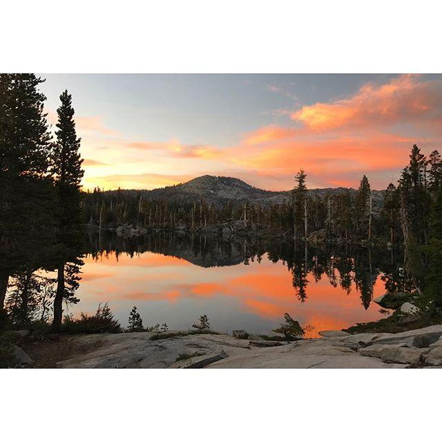 Campsite views ✨ #desolationwilderness #sunset #backpacking #summer
