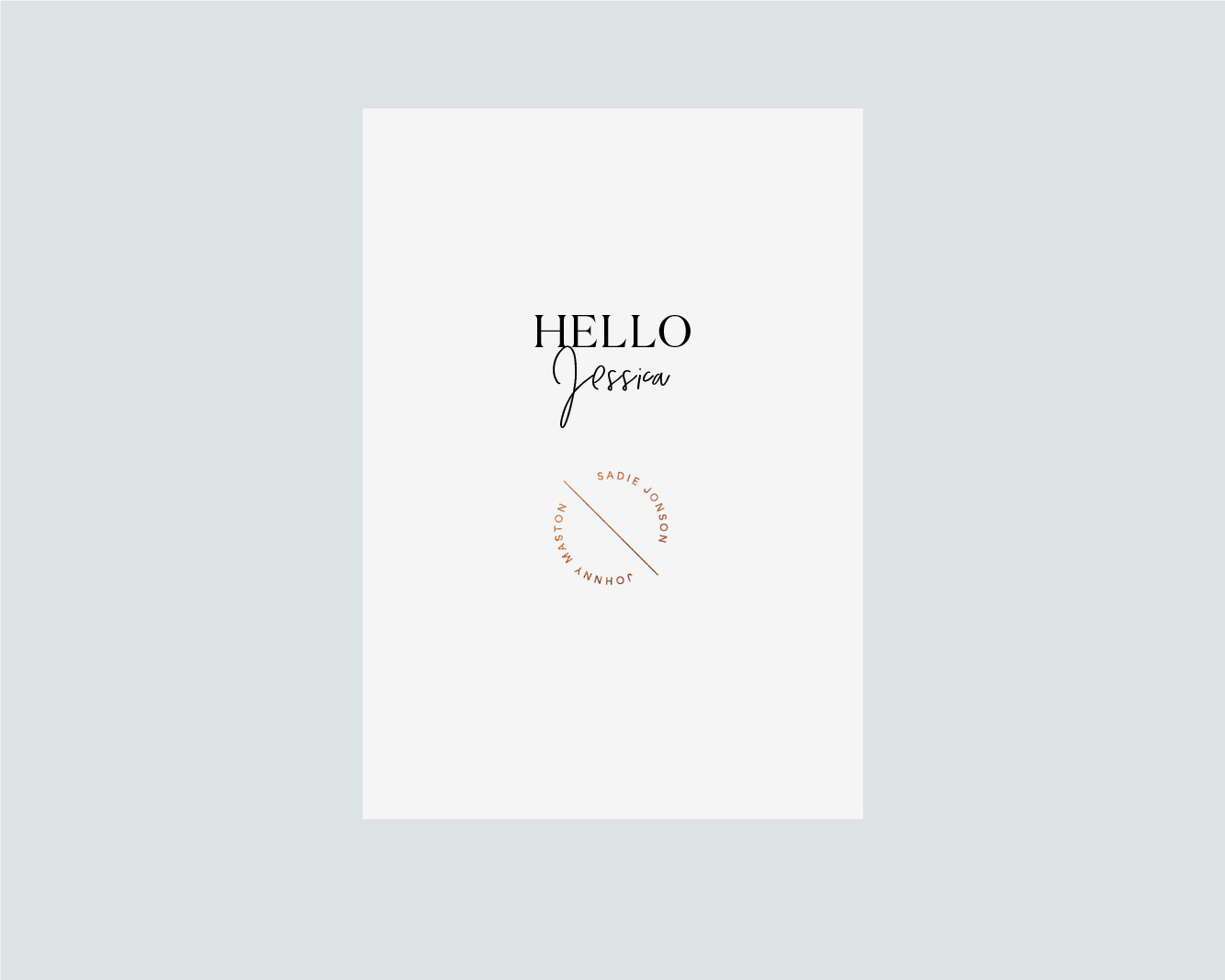 Personalised menu - White A5