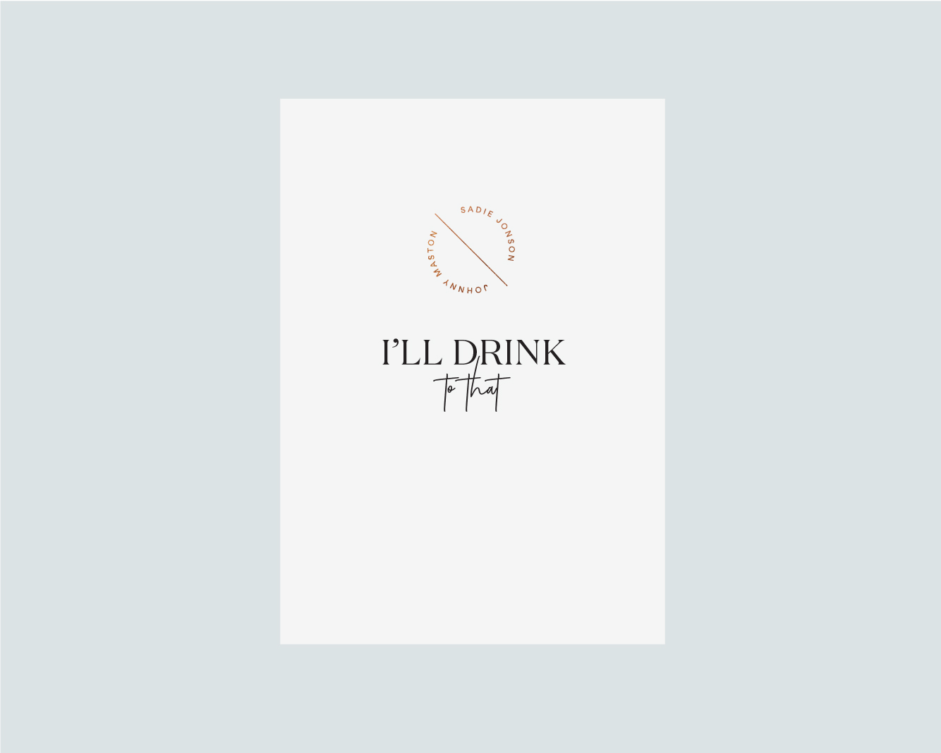 Drinks menu front - White