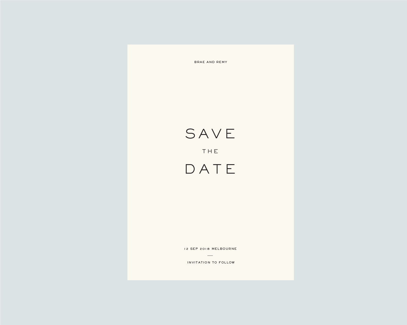 Save the Date - A5 or 120X170mm