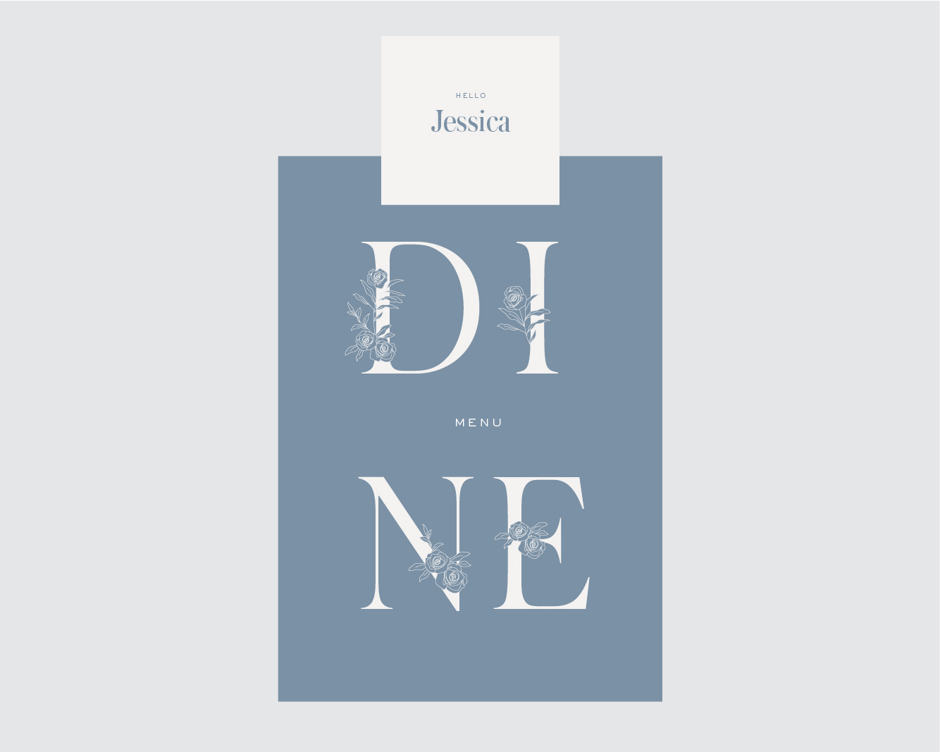 Menu + square place card