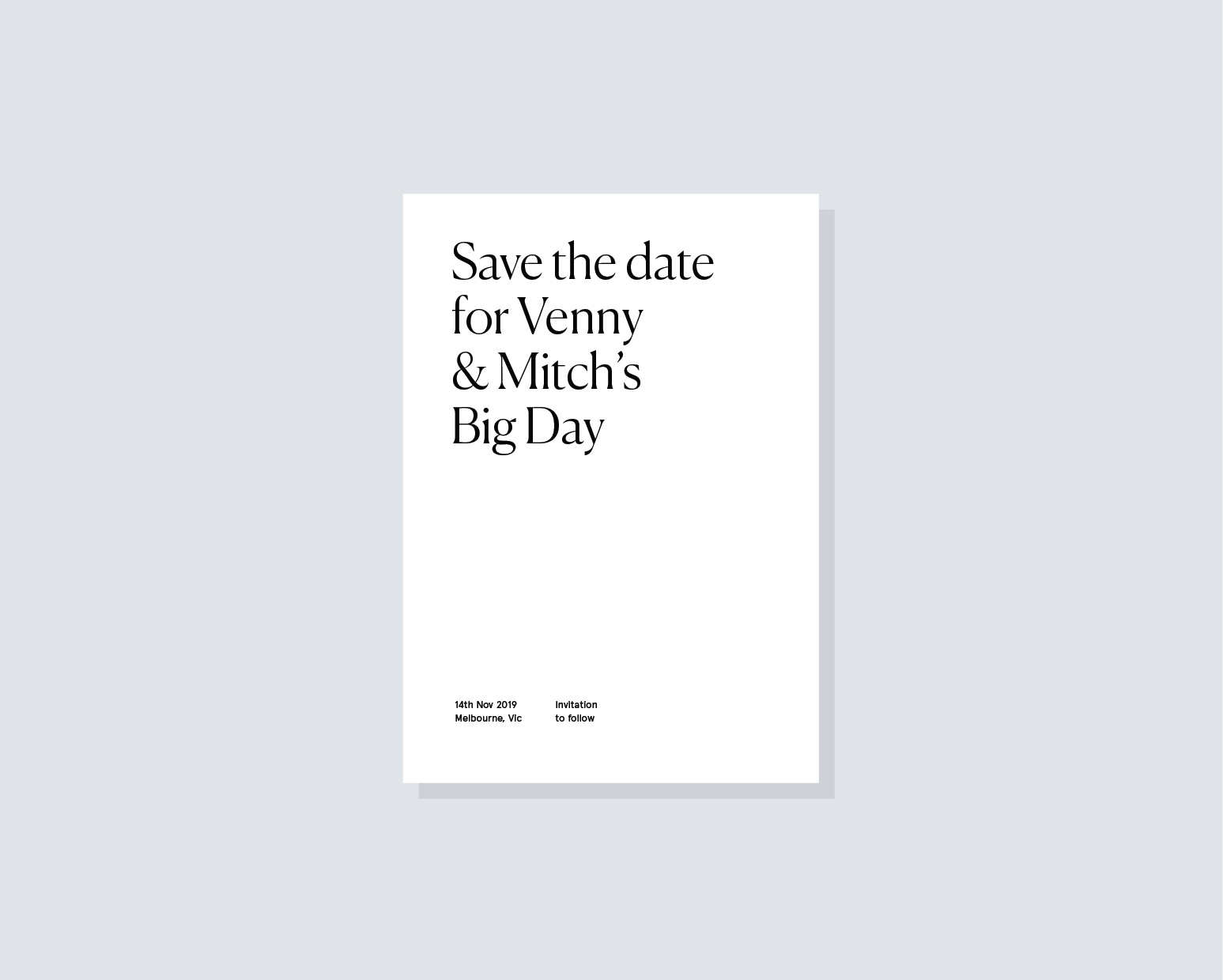 Save the Date 2 - 120 x 180mm