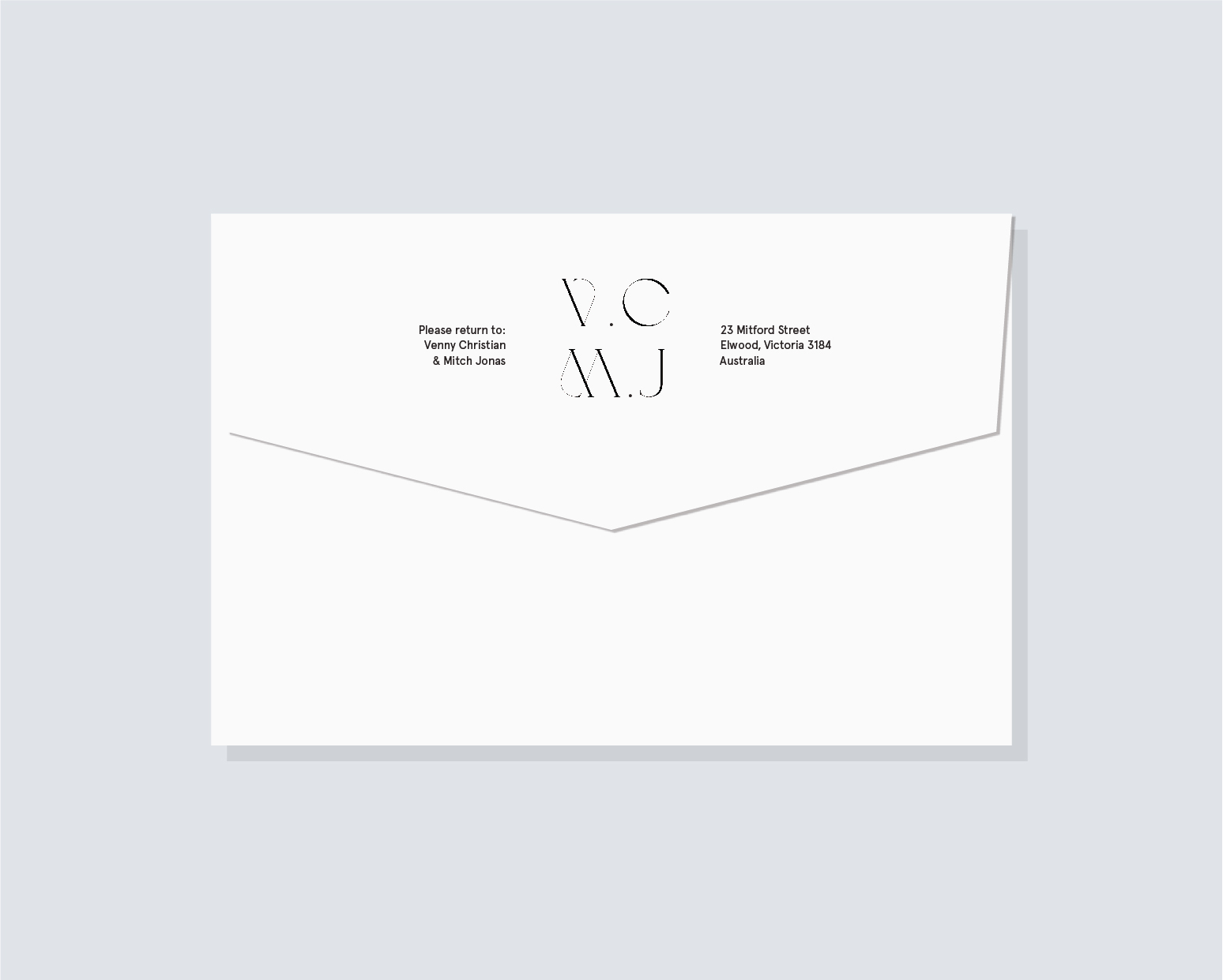 Return addressed envelopes - back