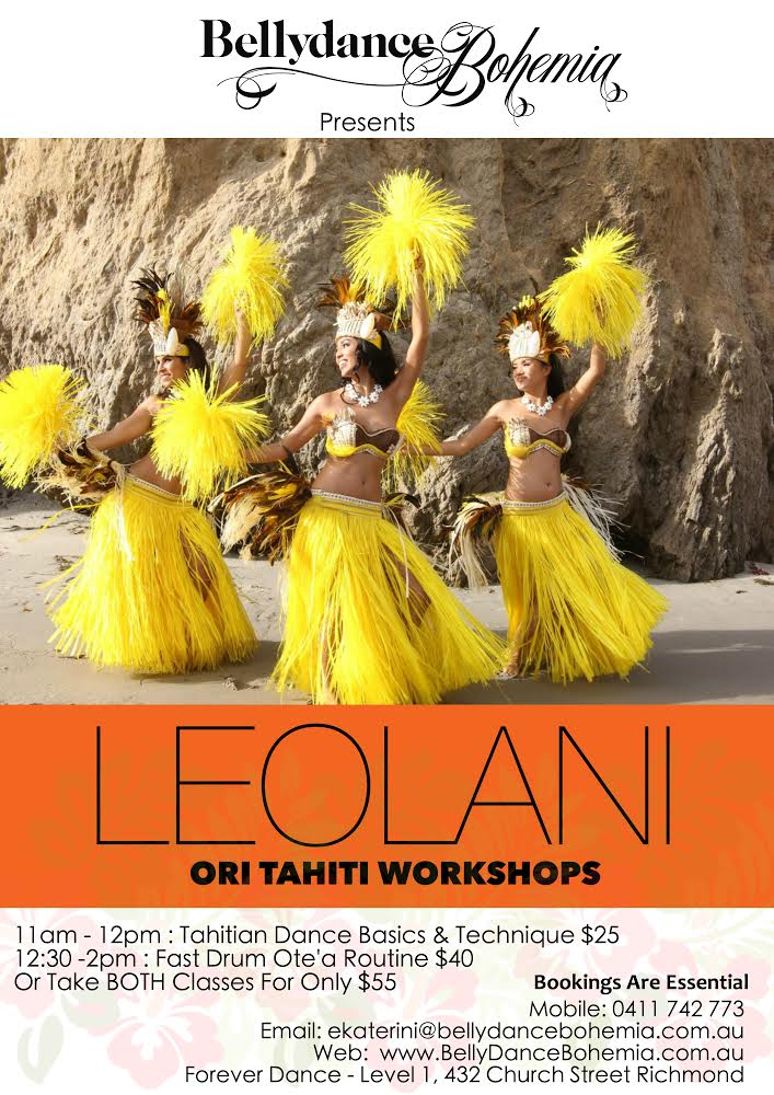 Ori Tahiti Workshops with Leolani, Melbourne 2014