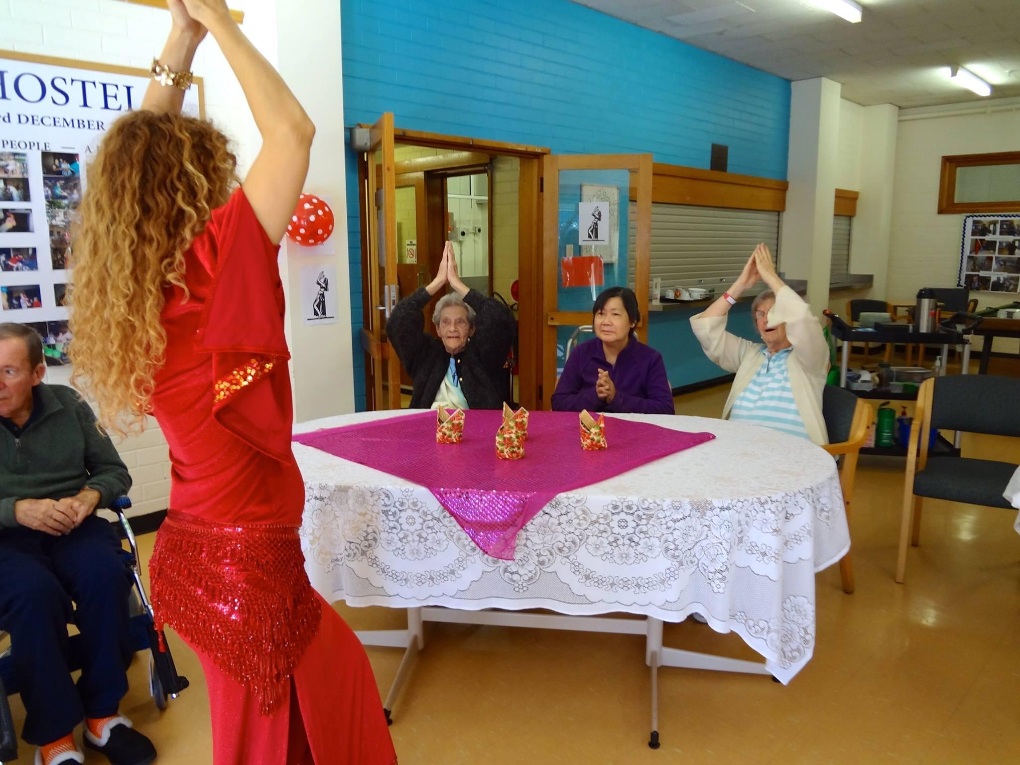 Belly Dancers Melbourne, belly dance Melbourne, aged care entertainer