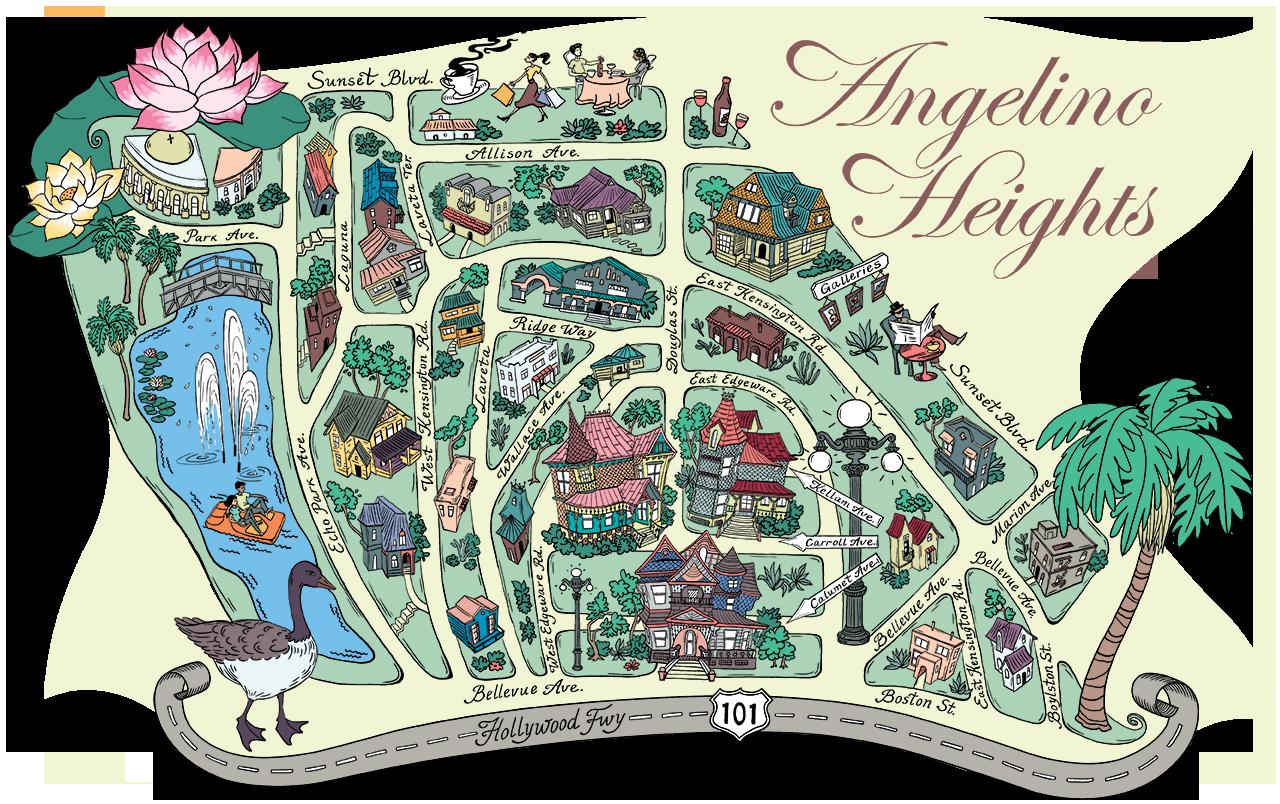 Angelino Heights Map