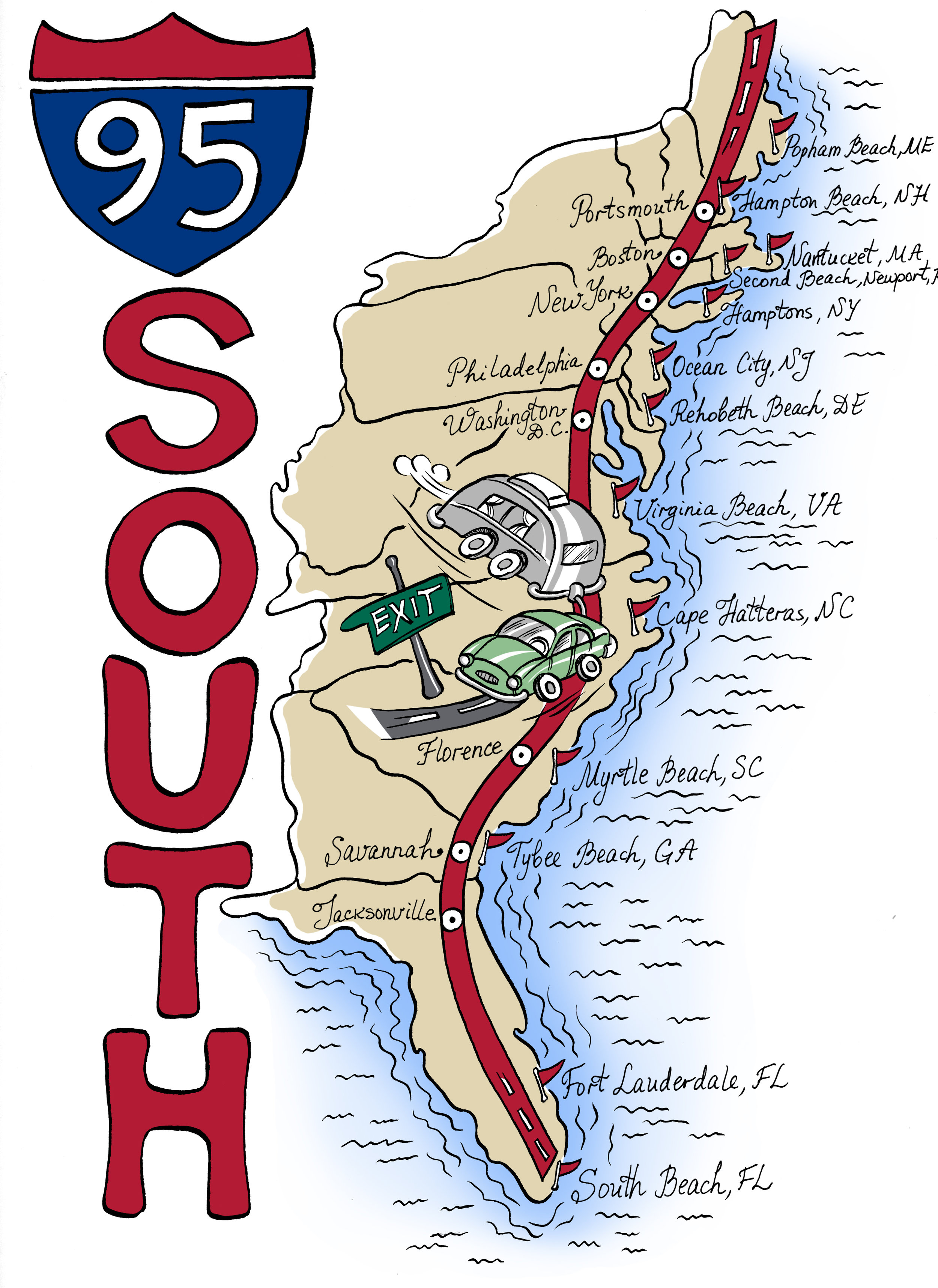 95 South Map