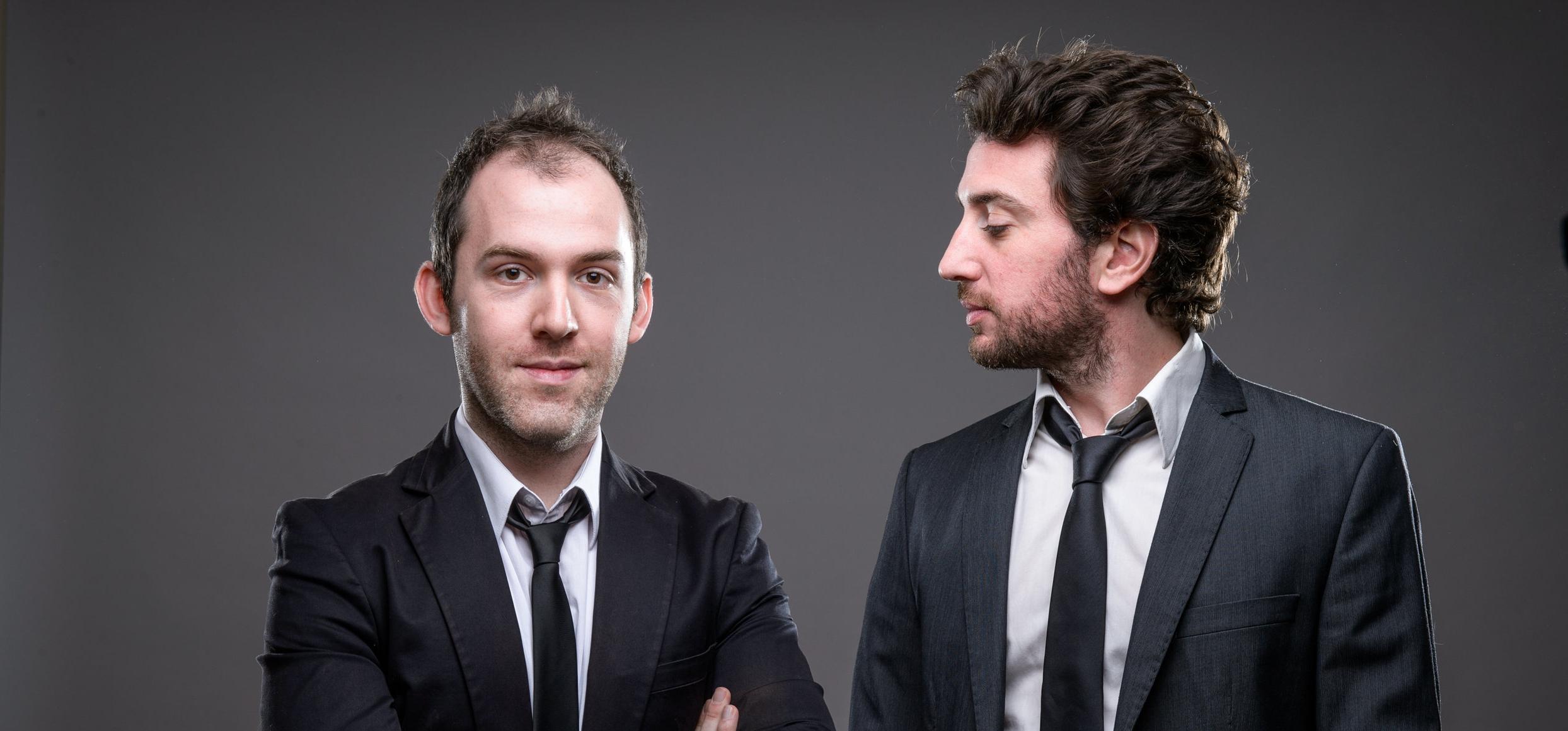 Un duo qui fontctionne - Rémy Berthier à gauche, Matthieu Villatelle à droite.