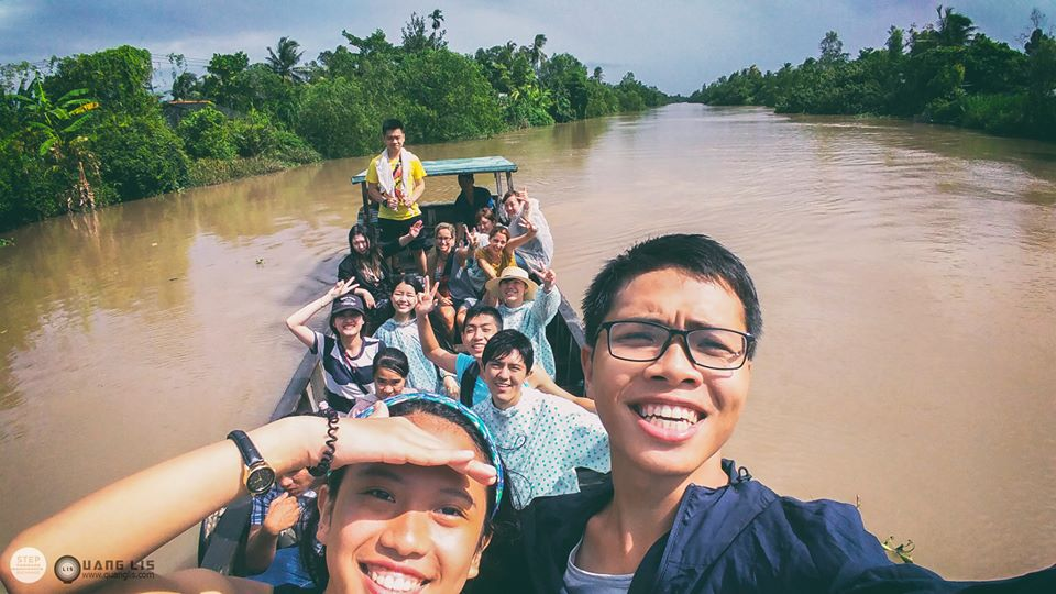 We had a chance for a boat ride down the Mekong river .It was AMAZING!