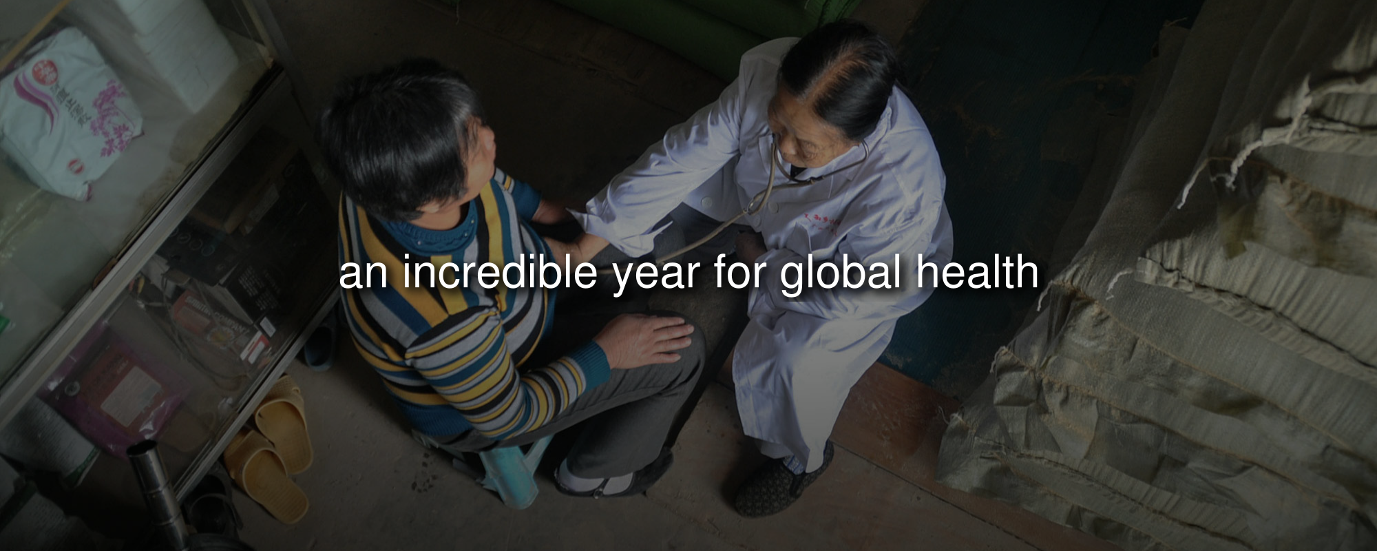 A village doctor examines a patient in Nanning, China. (Image credit:   Lu Boan/VCG   )