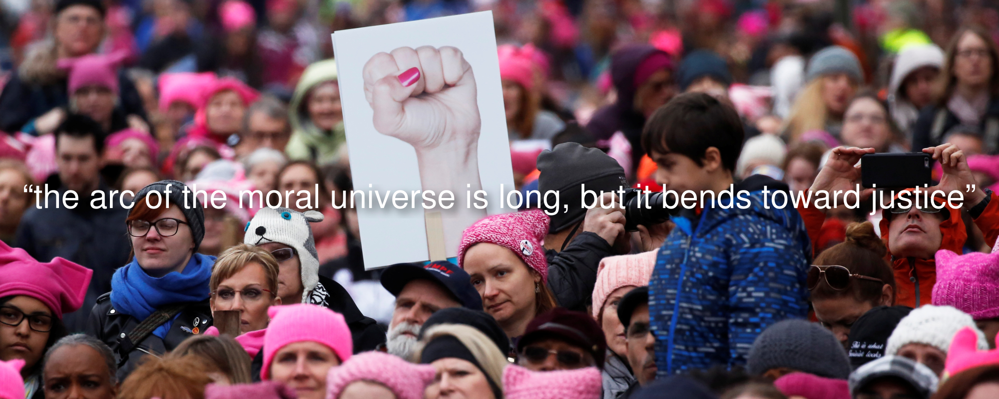 Hundreds of thousands of protesters converge on Washington, D.C. for the Women's March (Image credit: PBS )