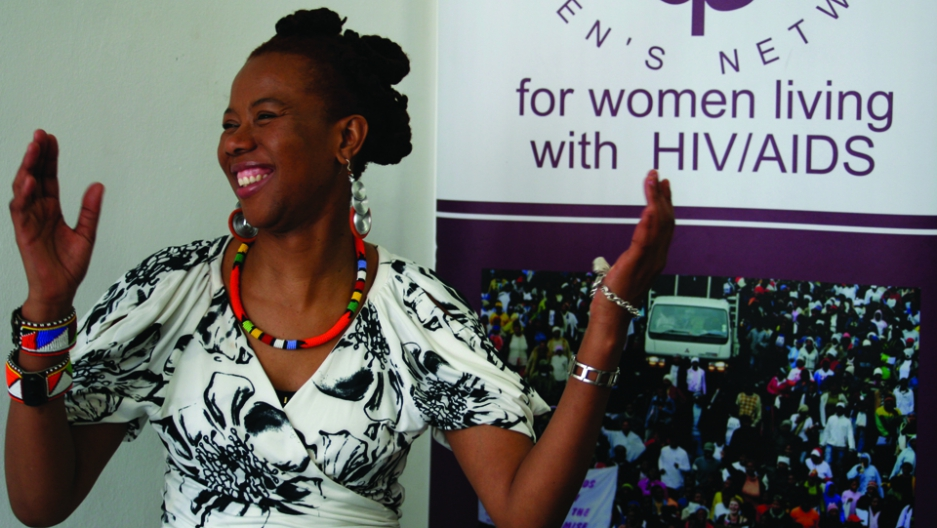 The late Prudence Mabele, founder and executive director of Positive Women's Network, who broke ground in 1992 in South Africa by publicly revealing her HIV-positive status. Image credit:  PRI