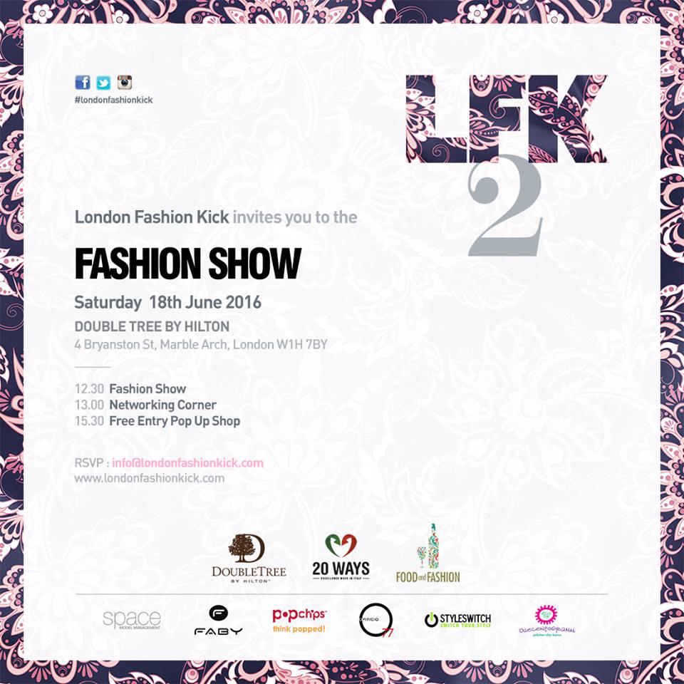 London Fashion Kick 2 Event
