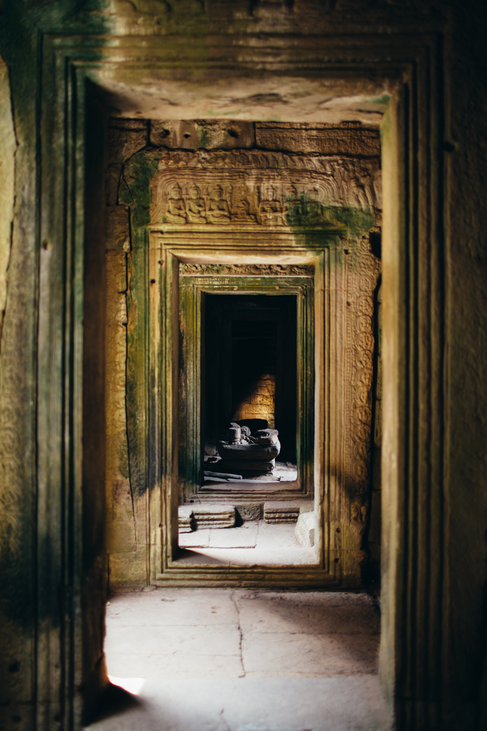 Inside the Bayon temple