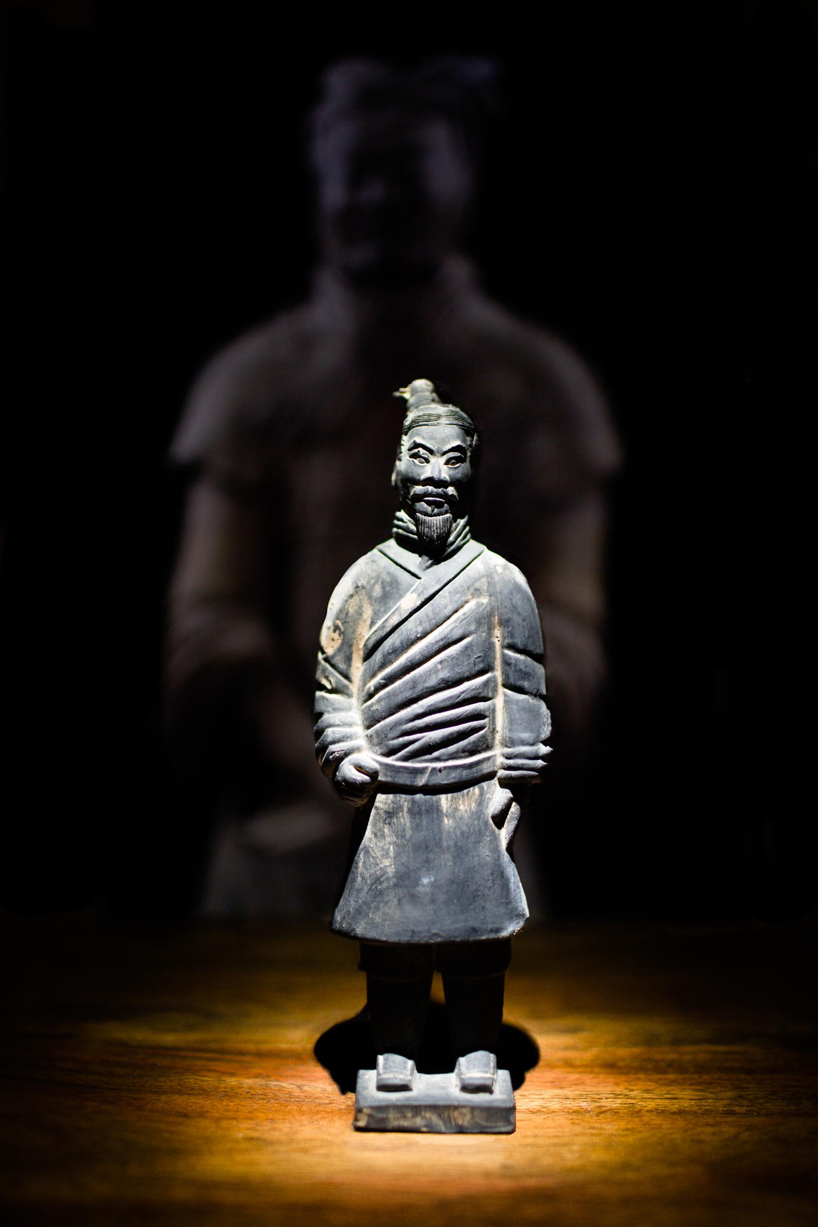 Chinese warrior sculpture