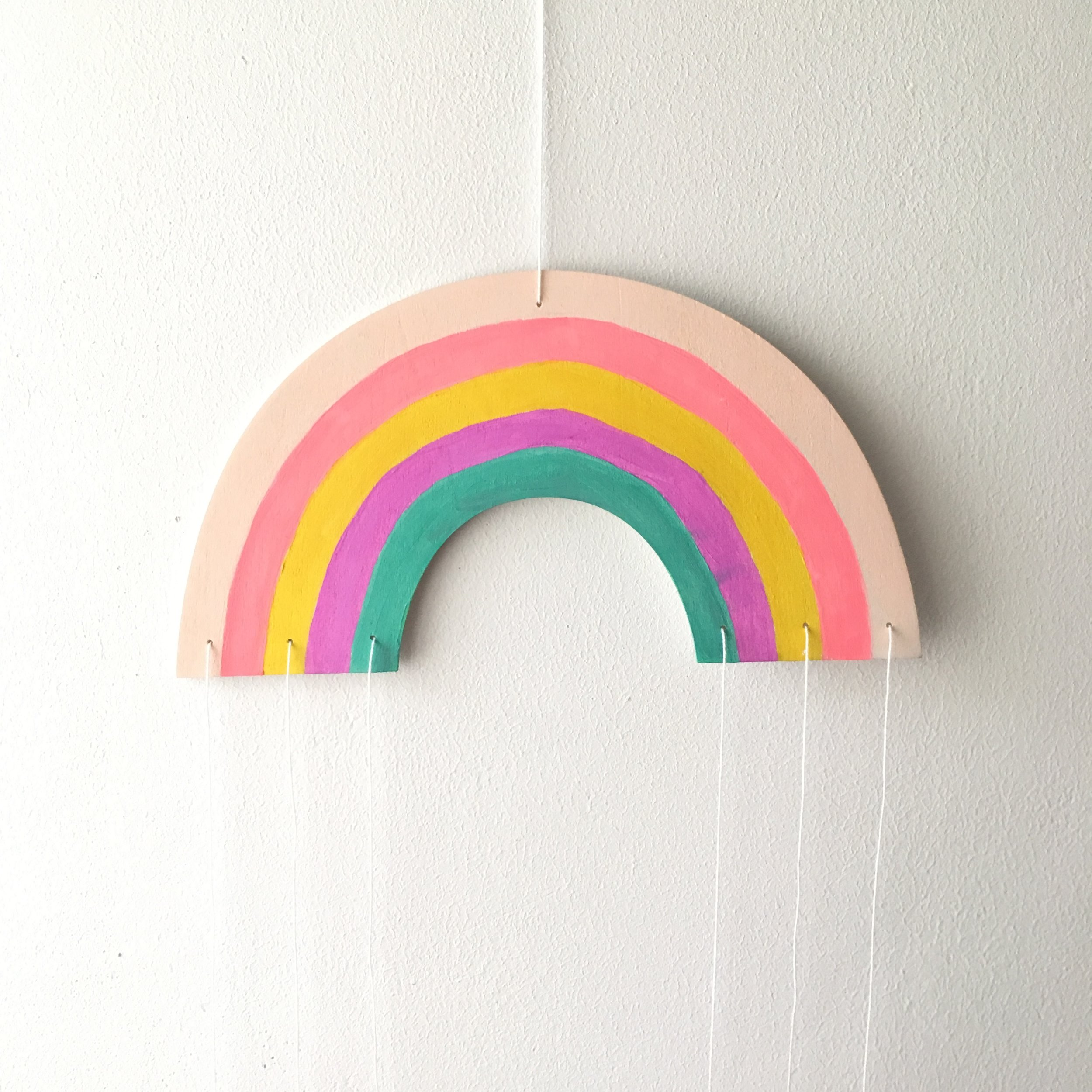 rainbow mobile for a kids room