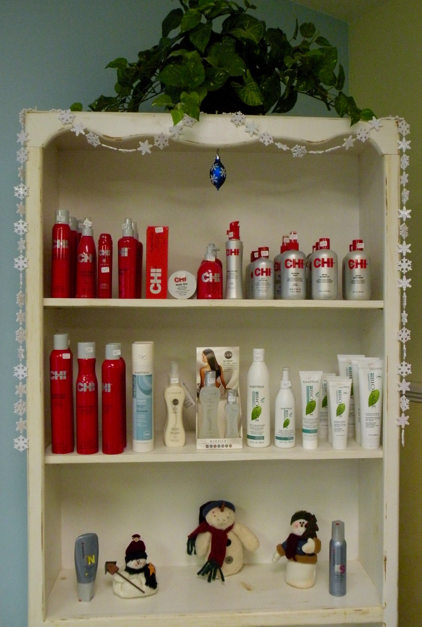 The Hair Studio stocks both Biolage and Chi hair products.