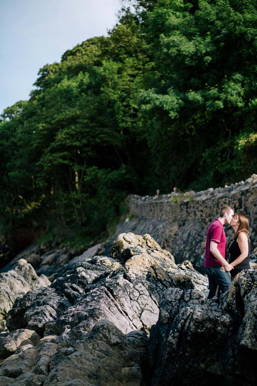 Somerset wedding photographer Gower coast engagement shoot Sarah and Andrew 7