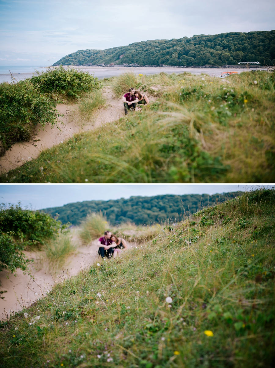 Somerset wedding photographer Gower coast engagement shoot Sarah and Andrew 10