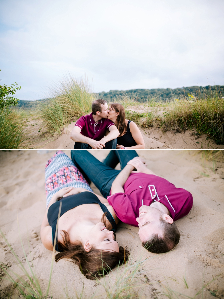 Somerset wedding photographer Gower coast engagement shoot Sarah and Andrew 11