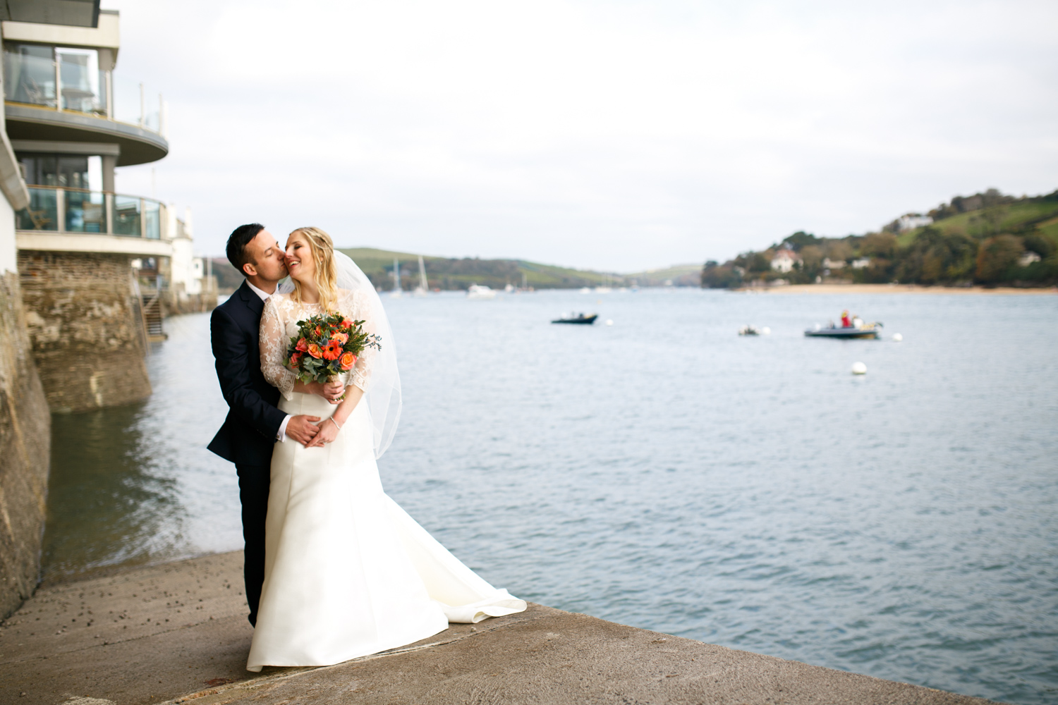 Salcombe Wedding Photographer Heather and Dale