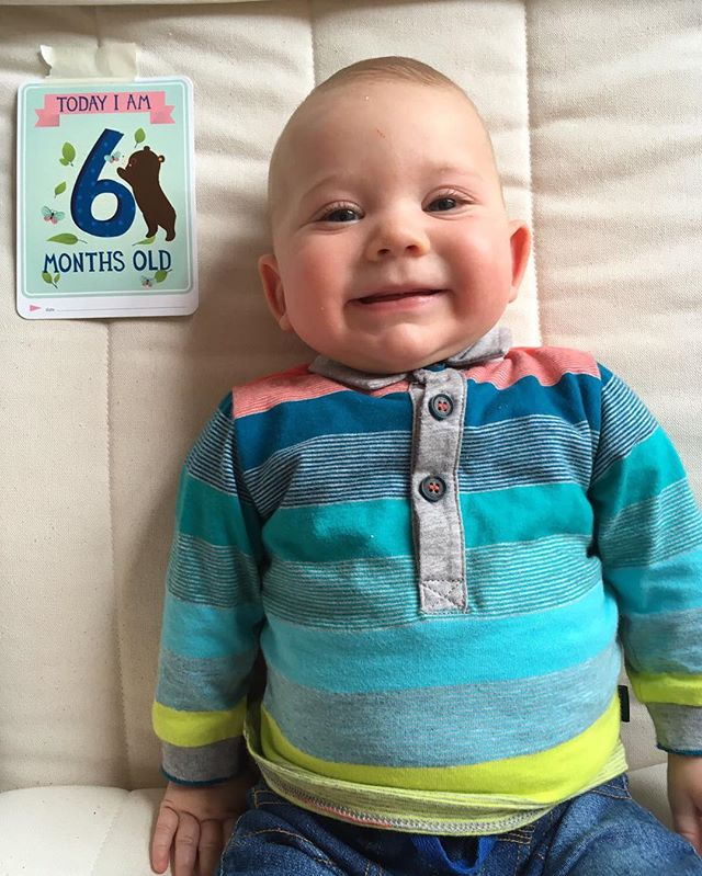 How do we have a 6 month old? #Franklin #baby #franklinfox #smile #lad