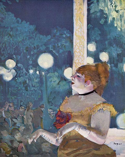 Edgar G Degas - Chanteuse de Café