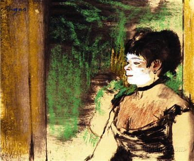 Edgar Degas - chanteuse de cafe concert