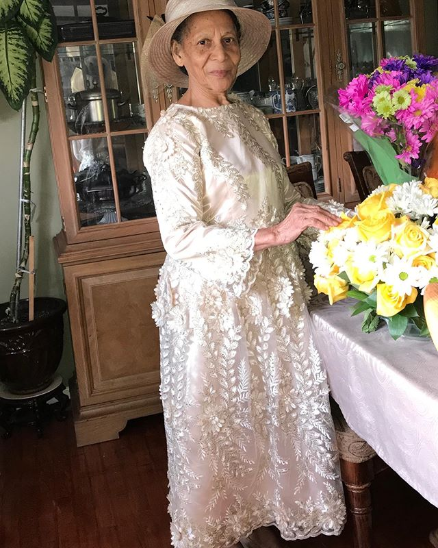 80th Birthday Dress for my Dear Mother. #customlyyoursllc #custommadedress #lacedress #eveningdress #specialocassiondress #3Dlacedress #churchdress