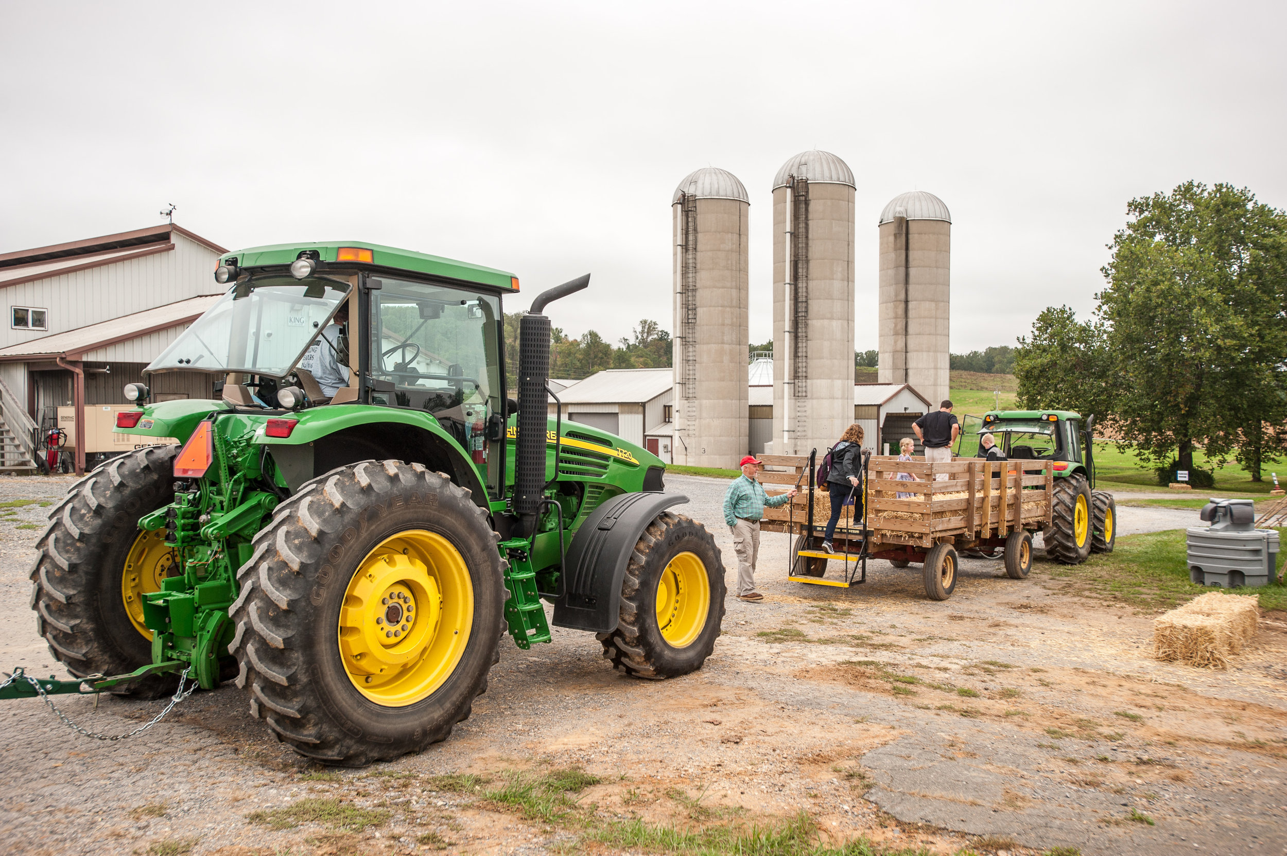 Image by Edwin Remsberg. Image shows a tractor with the slow moving vehicle emblem.