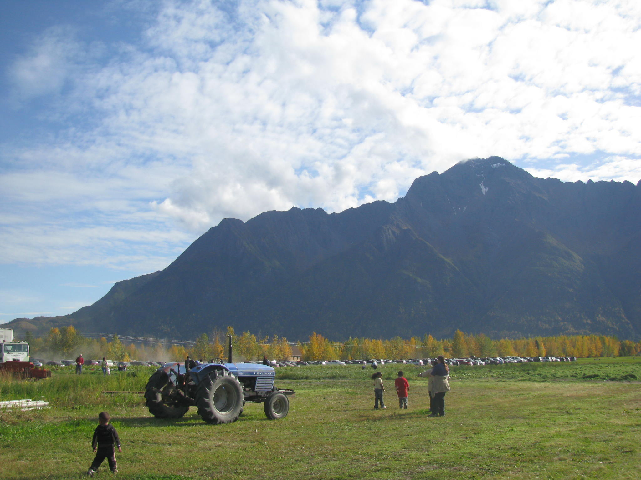 Farm in Alaska showing a cabless Ford tractor. Image by Sarah Hurst via flickr.com