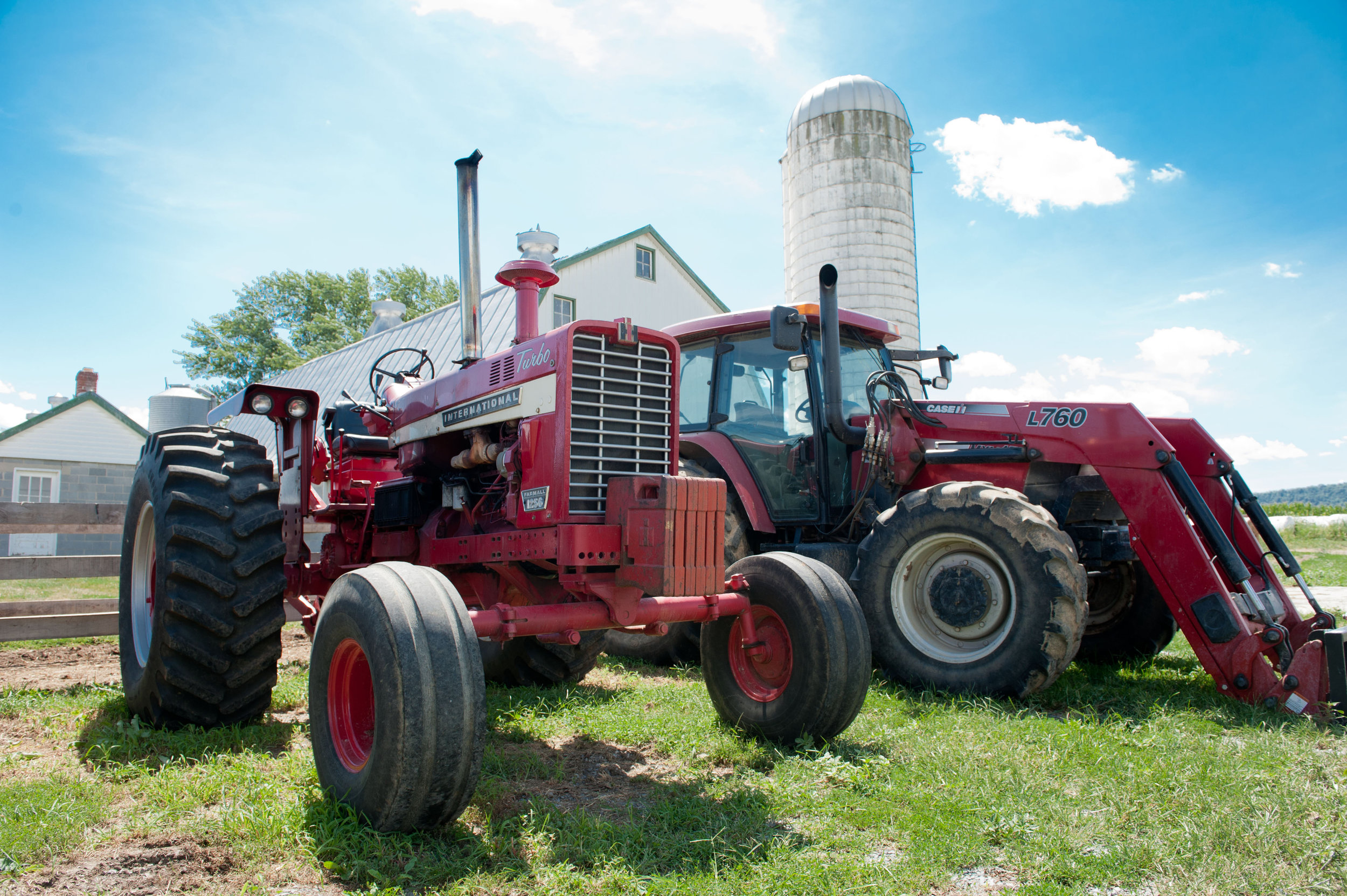Image of tractors. Photo Credit Edwin Remsberg