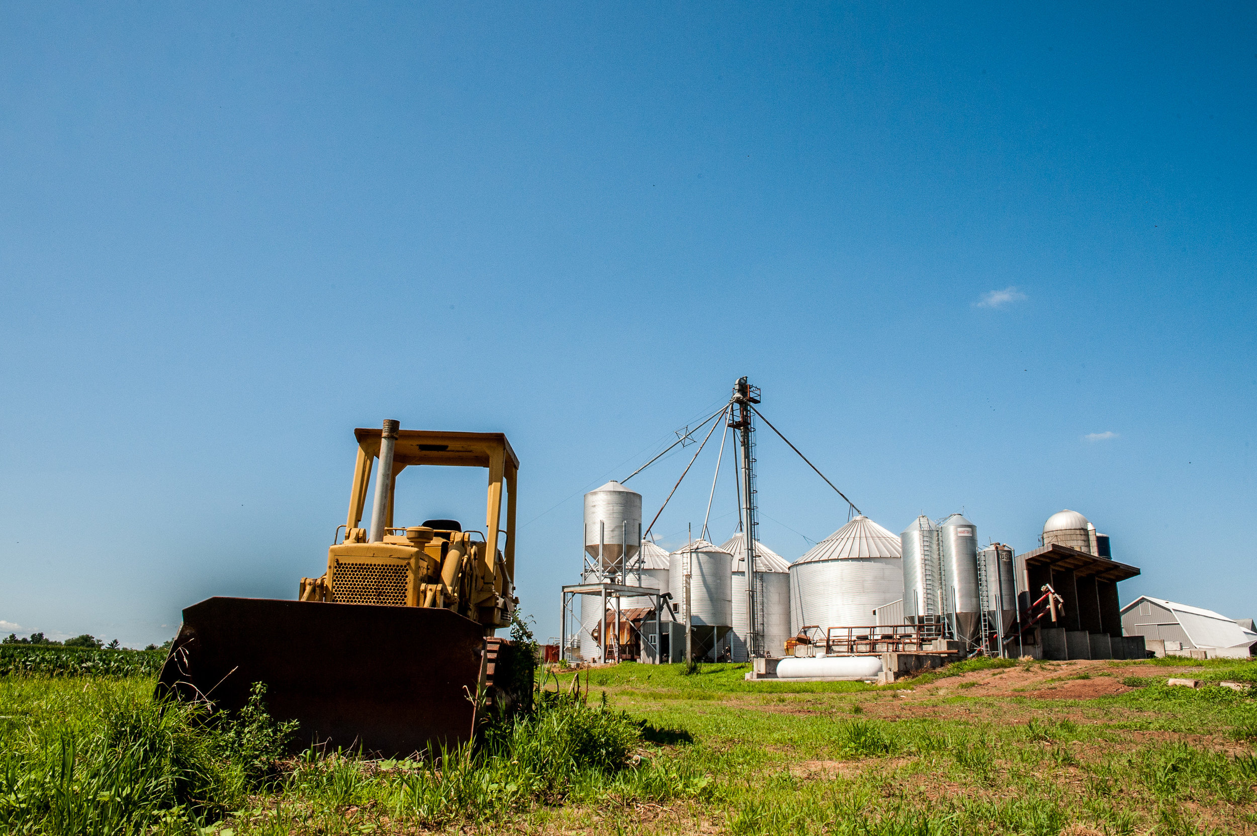 Image of equipment on a dairy in Maryland.  Image by Edwin Remsberg