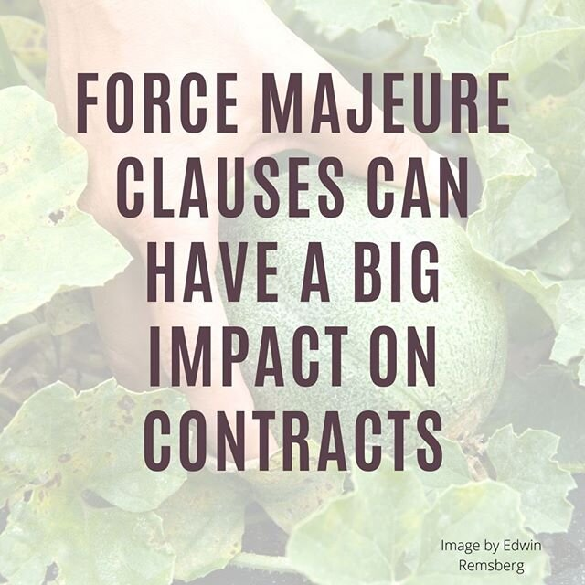 Recent podcast episode is focused in on Force Majeure clauses in contracts.  Check it out by clicking on the link in my bio