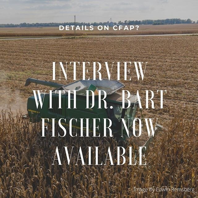 Signup for the new CFAP program just started this week, I interviewed Dr. Bart Fischer with Texas A&M Department of Agricultural Economics and the Agricultural and Food Policy Center for what producers need to be aware of when they signup.  Link is available in my bio. @txextension