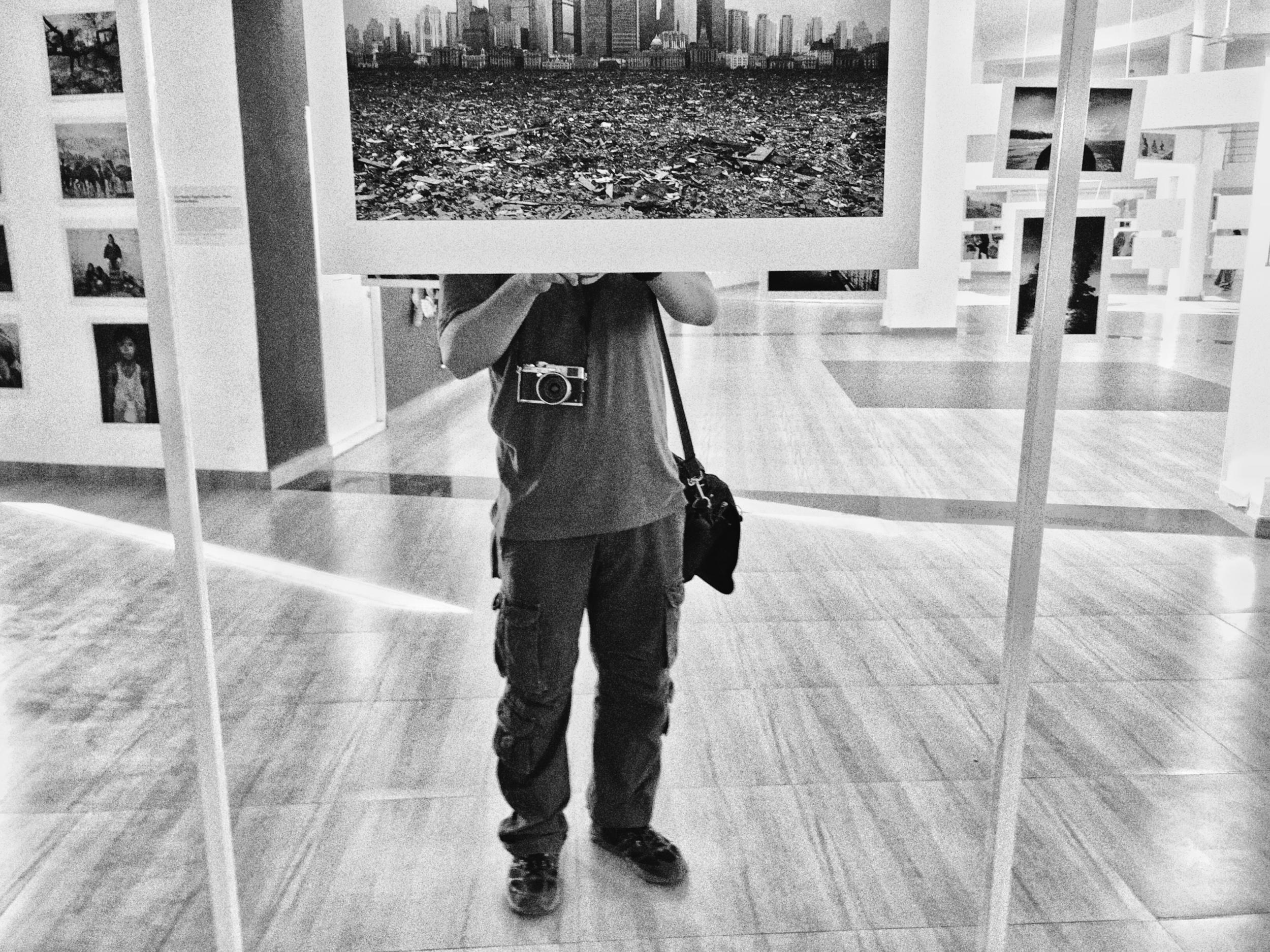 Nishal at the main gallery