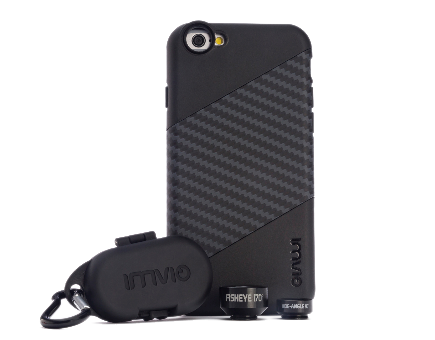 Official Company Photograph of the lens kit and iPhone case. Image © IMVIO