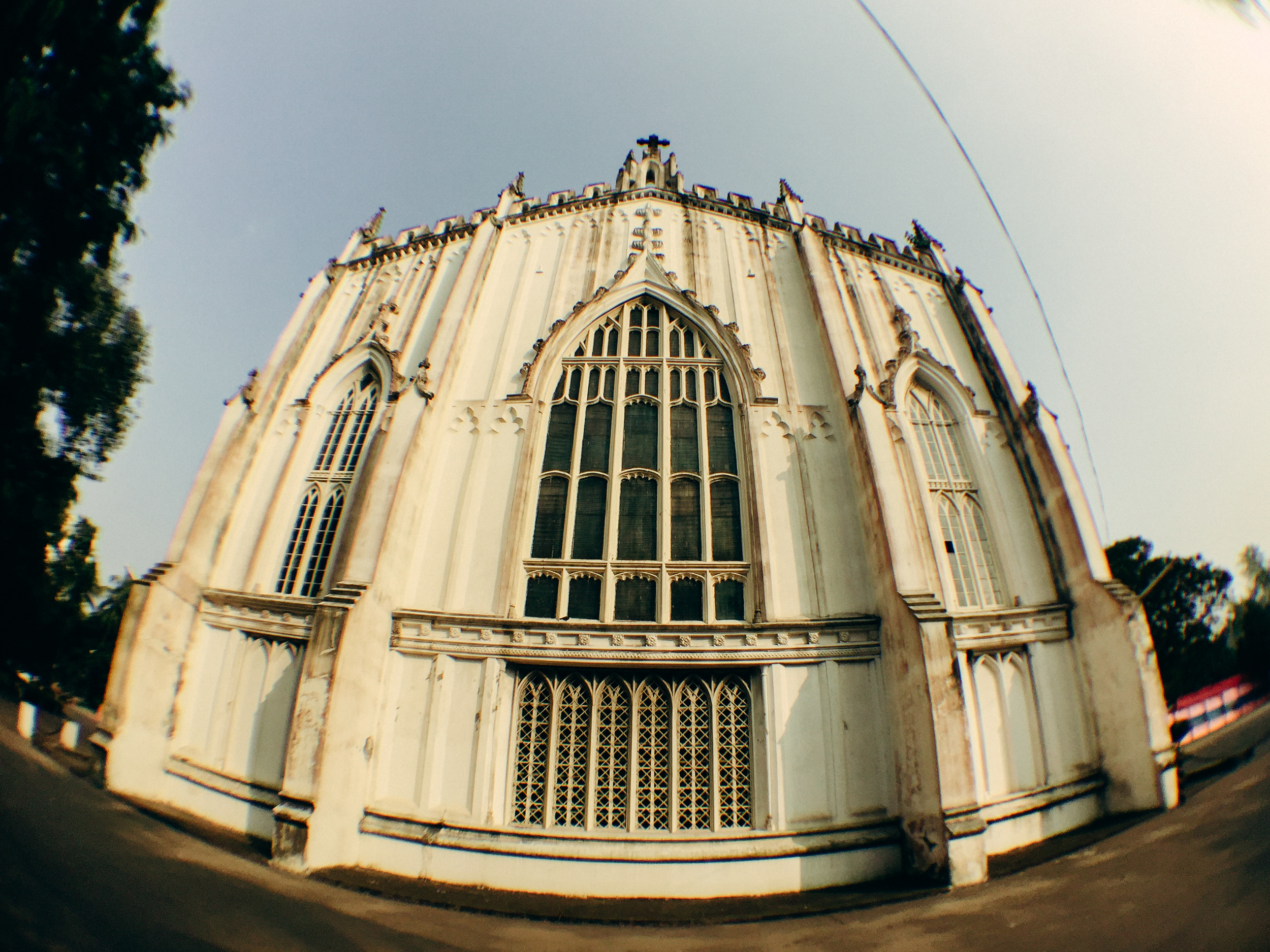 The beautiful St. Paul's Cathedral in Kolkata. Shot on iPhone 6 with the IMVIO Fisheye lens.