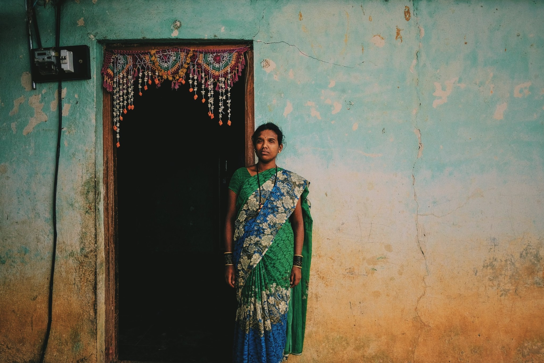 It is estimated that one third of men in the larger Devanahalli area are addicted to alcohol. Alcohol is accessible and used from an early age. Moreover adulterated drinks brings in additional health challenges to the men here who consume it. This is a portrait of Varalakshmi, the visually impaired wife of Venkatesh. They have one child together. Venkatesh who works as as a manual labourer was an alcoholic for 15+ years but has been clean now through the deaddcition camps and counselling done by  #BangaloreBaptistHospital  in partnership with AA. Varalakshmi told us that she being 50% blind is much manageable today because her husband is sober.