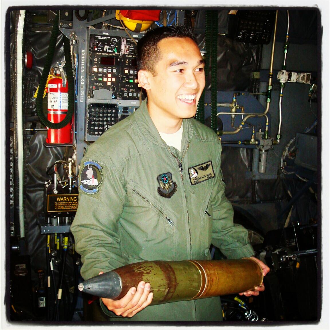 'T-Bone' — on an AC-130U Spooky.